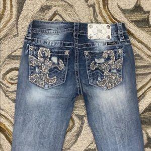 💕Miss me jeans signature skinny sz 26 x 28 nice